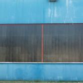 Okno průmyslové budovy po aplikaci Ultra-stop